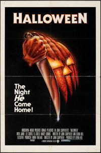 "Halloween (Compass International, 1978). Folded, Very Fine-. One Sheet (27"" X 41""). Bob Gleason Artwork. Horro..."