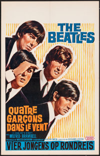 """A Hard Day's Night (United Artists, 1964). Folded, Very Fine+. Belgian (16.25"""" X 25.25""""). Rock and Roll"""