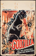 "Movie Posters:Science Fiction, Godzilla (Apollon, 1954). Folded, Fine. Belgian (13.75"" X 21.5""). Science Fiction.. ..."