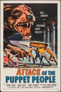 "Attack of the Puppet People (American International, 1958). Folded, Very Fine-. One Sheet (27"" X 41""). Reynold..."