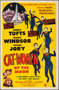 """Movie Posters:Science Fiction, Cat-Women of the Moon (Astor Pictures, 1954). Folded, Fine/Very Fine. One Sheet (27"""" X 41""""). Science Fiction.. ..."""