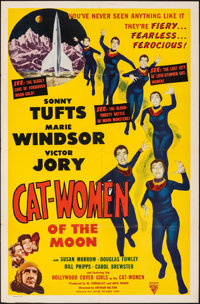 """Cat-Women of the Moon (Astor Pictures, 1954). Folded, Fine/Very Fine. One Sheet (27"""" X 41""""). Science Fiction..."""