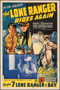 """The Lone Ranger Rides Again (Republic, 1939). Fine/Very Fine. One Sheet (27"""" X 41"""") Chapter 7 -- """"Lone Ra..."""
