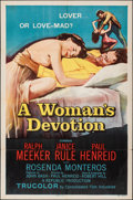 "Movie Posters:Crime, A Woman's Devotion (Republic, 1956). Folded, Fine+. One Sheet (27"" X 41""). Crime.. ..."