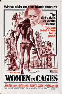 "Women in Cages (New World, 1971). Folded, Fine/Very Fine. One Sheet (27"" X 41""). Joseph Smith Artwork. Sexploi..."
