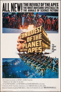 "Movie Posters:Science Fiction, Conquest of the Planet of the Apes (20th Century Fox, 1972). Rolled, Fine+. Poster (40"" X 60""). Science Fiction.. ..."