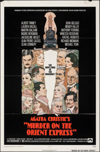 """Murder on the Orient Express & Other Lot (Paramount, 1974). Folded, Overall: Fine/Very Fine. One Sheets (4) (27""""..."""
