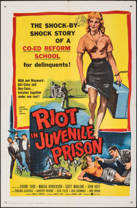 "Riot in Juvenile Prison & Other Lot (United Artists, 1959). Folded, Very Fine-. One Sheets (2) (27"" X 41&qu..."