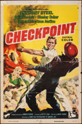 """Movie Posters:Crime, Checkpoint (Rank, 1957). Folded, Fine. One Sheet (27"""" X 41""""). Crime.. ..."""