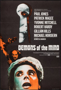 "Demons of the Mind (EMI/Excelsior, 1972). Folded, Very Fine. British One Sheet (27"" X 40"") & Belgian (..."