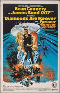 """Diamonds are Forever (United Artists, 1971). Folded, Fine/Very Fine. Indian One Sheet (25.5"""" X 39.75""""). Robert..."""