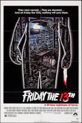 "Movie Posters:Horror, Friday the 13th (Paramount, R-1982). Folded, Very Fine-. One Sheet (27"" X 41""). Alex Ebel Artwork. Horror.. ..."