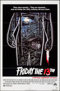 "Friday the 13th (Paramount, R-1982). Folded, Very Fine-. One Sheet (27"" X 41""). Alex Ebel Artwork. Horror"