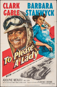"""To Please a Lady (MGM, 1950). Folded, Fine/Very Fine. One Sheet (27"""" X 41""""). Adventure"""