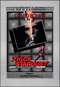 "Ziggy Stardust and the Spiders from Mars (Thorn EMI, 1983). Folded, Very Fine. British One Sheet (27"" X 40"")..."