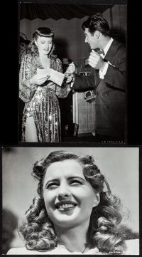 "Ball of Fire (RKO, 1941). Fine+. Trimmed Photos (2) (7.5"" X 9.75"") Hal McAlpin Photography. Comedy. ... (Total..."