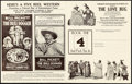 "Movie Posters:Western, The Bull-Dogger & Other Lot (Norman, 1921). Overall: Fine/Very Fine. Uncut Pressbooks (2) (Multiple Pages, 9.5"" X 12"" & 12.5... (Total: 2 Items)"
