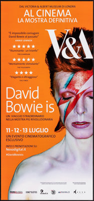 "David Bowie Is (Victoria and Albert Museum, 2013). Rolled, Very Fine+. Italian Locandina (12.5"" X 26.75"") Bria..."