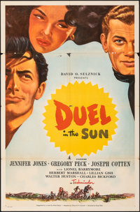 "Duel in the Sun (United Artists, 1947). Folded, Fine. Poster (30"" X 46""). Western"