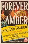 """Movie Posters:Drama, Forever Amber (20th Century Fox, 1947). Folded, Fine+. One Sheet (27"""" X 41""""). Drama.. ..."""