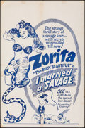 """Movie Posters:Adventure, I Married a Savage (Classic Pictures, 1949). Folded, Fine+. One Sheet (27"""" X 41""""). Adventure.. ..."""