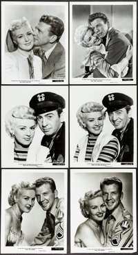 """Betty Grable in My Blue Heaven & Other Lot (20th Century Fox, 1950). Very Fine-. Photos (10) (8"""" X 10""""). M..."""