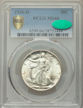 1936-D 50C MS66 PCGS. CAC. PCGS Population: (462/43 and 42/5+). NGC Census: (185/28 and 5/1+). CDN: $490 Whsle. Bid for...