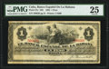 World Paper Money: Cuba Banco Espanol de la Habana 1 Peso 1883 Pick 27e PMG Very Fine 25