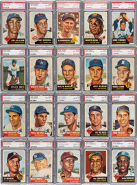 1953 Topps Baseball PSA Graded Near Set (268/274) - Only Two Cards Graded Below PSA NM-MT 8