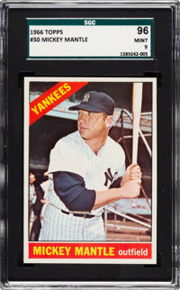 1966 Topps Mickey Mantle #50 SGC 96 Mint 9 - None Higher