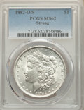 1882-O/S $1 Strong MS62 PCGS. PCGS Population: (745/629). NGC Census: (276/441). CDN: $250 Whsle. Bid for NGC/PCGS MS62...