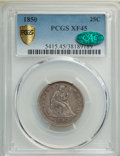 Seated Quarters, 1850 25C XF45 PCGS. CAC. PCGS Population: (9/46 and 0/1+). NGC Census: (2/29 and 0/0+). CDN: $300 Whsle. Bid for NGC/PCGS X...