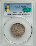 1863 25C AU53 PCGS. CAC. PCGS Population: (5/67 and 0/6+). NGC Census: (0/52 and 0/1+). CDN: $380 Whsle. Bid for NGC/PCG...
