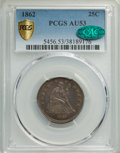 1862 25C AU53 PCGS. CAC. PCGS Population: (12/210 and 0/1+). NGC Census: (4/138 and 0/4+). CDN: $165 Whsle. Bid for NGC/...
