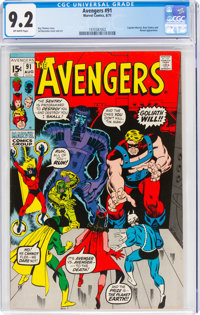 The Avengers #91 (Marvel, 1971) CGC NM- 9.2 Off-white pages