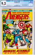 Bronze Age (1970-1979):Superhero, The Avengers #100 (Marvel, 1972) CGC NM- 9.2 Off-white pages....