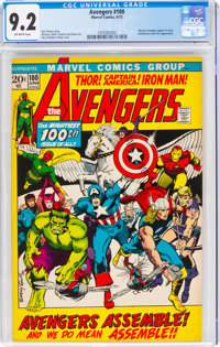 The Avengers #100 (Marvel, 1972) CGC NM- 9.2 Off-white pages