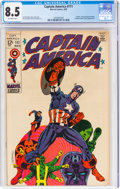 Silver Age (1956-1969):Superhero, Captain America #111 (Marvel, 1969) CGC VF+ 8.5 Off-white pages....