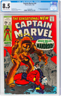 Silver Age (1956-1969):Superhero, Captain Marvel #18 (Marvel, 1969) CGC VF+ 8.5 Off-white to white pages....