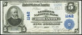 National Bank Notes:Maine, Thomaston, ME - $5 1902 Plain Back Fr. 598 The Georges National Bank Ch. # 1142 Very Fine-Extremely Fine.. ...