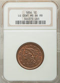 1856 1C Upright 5 MS64 Red and Brown NGC. NGC Census: (81/74). PCGS Population: (137/41). MS64. Mintage 2,690,463. ...(P...
