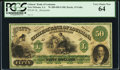 Shreveport, LA- Citizens' Bank of Louisana at Shreveport $50 18__ G40a Remainder PCGS Very Choice New 64.<