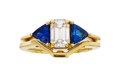 Estate Jewelry:Rings, Diamond, Sapphire, Gold Ring Set. ... (Total: 2 Items)