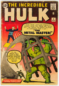 Silver Age (1956-1969):Superhero, The Incredible Hulk #6 (Marvel, 1963) Condition: GD....