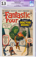 Silver Age (1956-1969):Superhero, Fantastic Four #5 (Marvel, 1962) CGC Apparent GD+ 2.5 Moderate (C-3) Off-white to white pages....