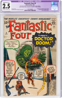 Fantastic Four #5 (Marvel, 1962) CGC Apparent GD+ 2.5 Moderate (C-3) Off-white to white pages