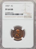 Proof Lincoln Cents: , 1937 1C PR64 Red and Brown NGC. NGC Census: (110/57). PCGS Population: (168/53). CDN: $75 Whsle. Bid for NGC/PCGS PR64. Min...