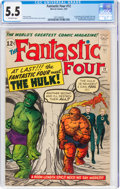 Silver Age (1956-1969):Superhero, Fantastic Four #12 (Marvel, 1963) CGC FN- 5.5 Off-white pages....