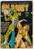 Golden Age (1938-1955):Science Fiction, Planet Comics #36 (Fiction House, 1945) Condition: GD....
