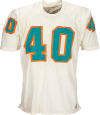 1972 Dick Anderson Game Worn Miami Dolphins Jersey Photo Matched to 8/19 vs. Bengals - Most Likely Used in Super Bowl. &...